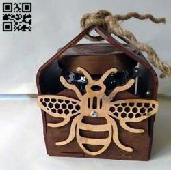Honey box E0014026 file cdr and dxf free vector download for laser cut