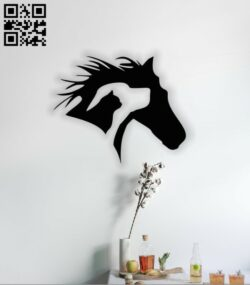Horse E0014028 file cdr and dxf free vector download for laser cut plasma