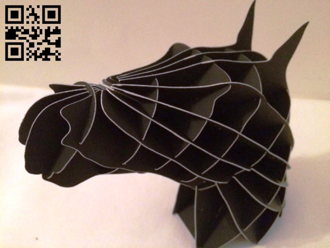 Horse head E0013764 file cdr and dxf free vector download for laser cut