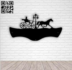 Horse wagon address table E0013987 file cdr and dxf free vector download for laser cut plasma