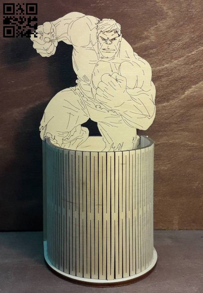 Hulk pencil holder E0013729 file cdr and dxf free vector download for laser cut