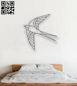 Hummingbird wall decor E0013885 file cdr and dxf free vector download for laser cut