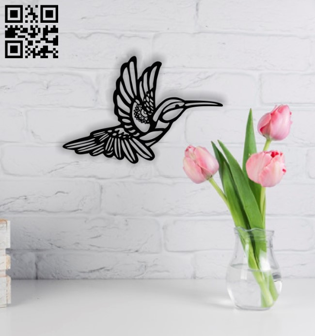 Hummingbird wall decor E0014033 file cdr and dxf free vector download for laser cut plasma