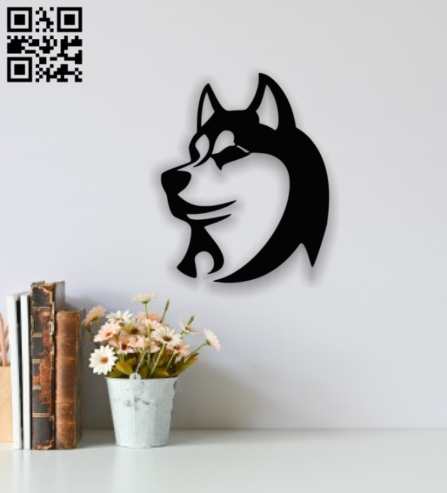 Husky face E00137887 file cdr and dxf free vector download for laser cut plasma