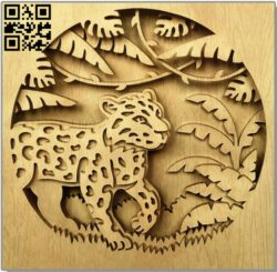 Jungle panel E0013790 file cdr and dxf free vector download for laser cut