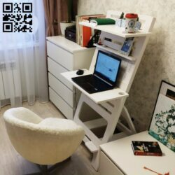 Laptop desk E0013770 file cdr and dxf free vector download for cnc cut
