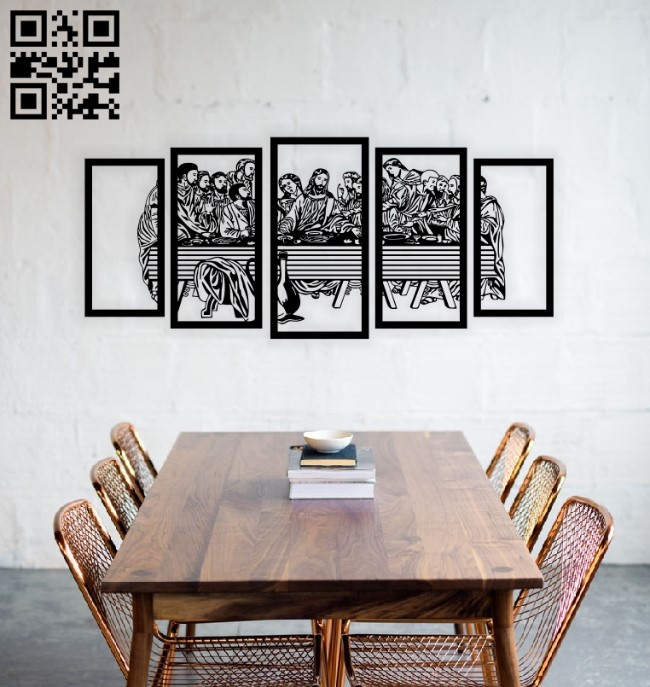 Last dinner wall decor E0014057 file cdr and dxf free vector download for laser engraving machine