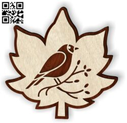 Leaf bird E0013992 file cdr and dxf free vector download for laser cut