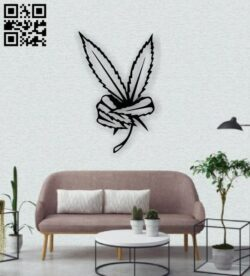 Leafs wall decor E0013821 file cdr and dxf free vector download for laser cut plasma