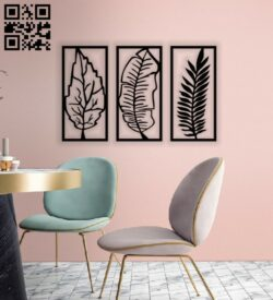 Leaves wall decor E0013969 file cdr and dxf free vector download for laser cut plasma