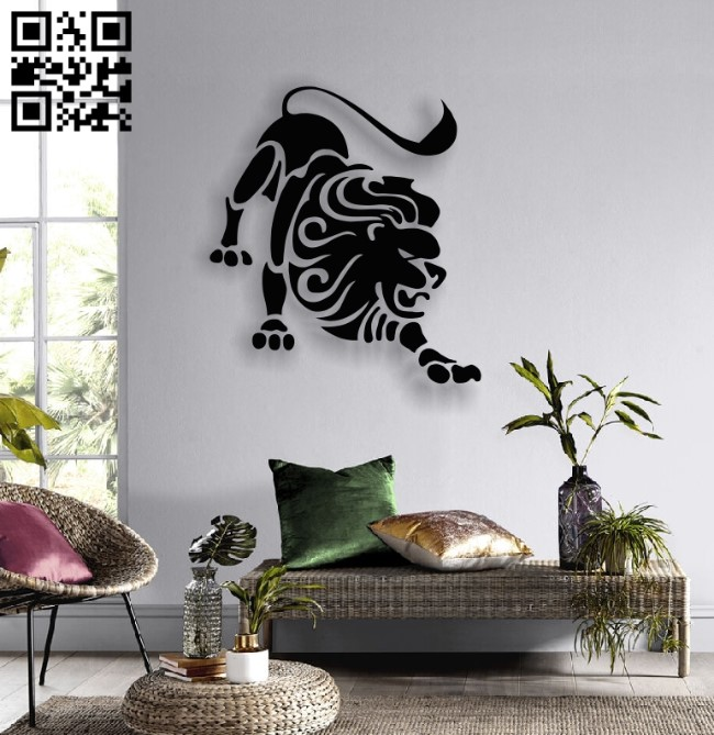 Leo zodiac E0013771 file cdr and dxf free vector download for laser cut plasma