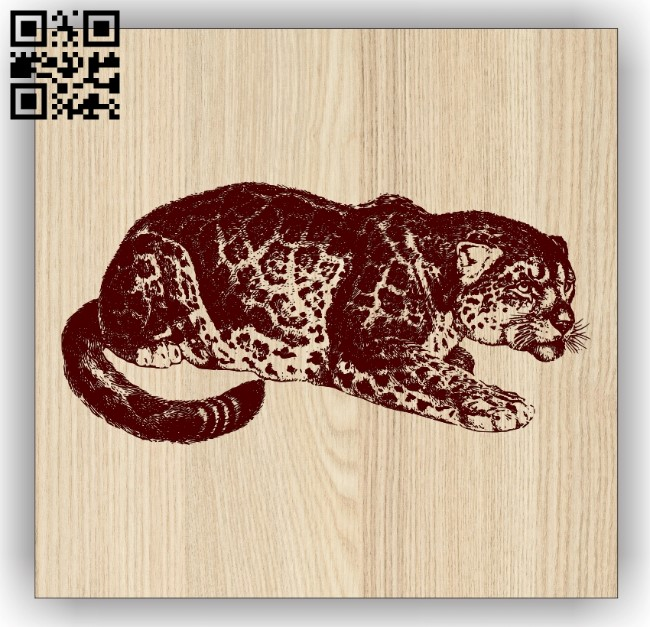 Leopard E0013760 file cdr and dxf free vector download for laser engraving machine