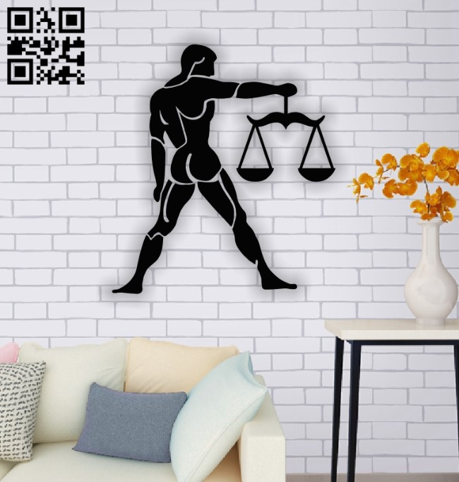 Libra zodiac E0013773 file cdr and dxf free vector download for laser cut plasma