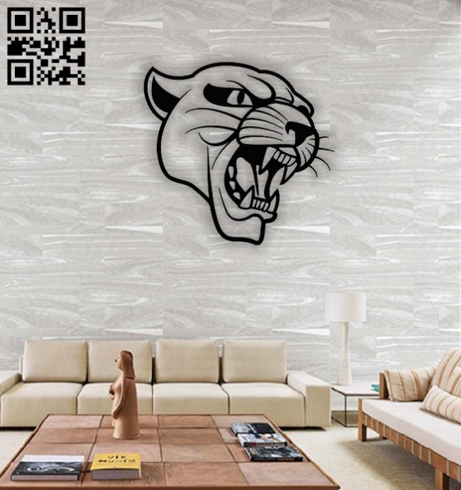 Lion wall decor E0013874 file cdr and dxf free vector download for laser cut plasma