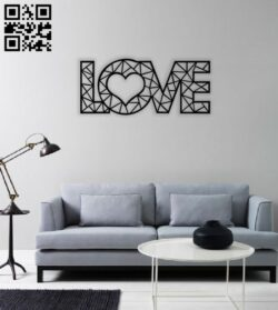 Love wall art E0014010 file cdr and dxf free vector download for laser cut plasma