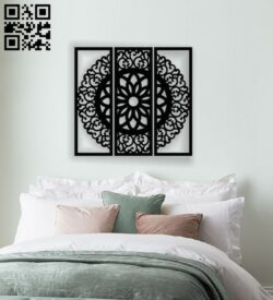 Mandala wall decor E0013968 file cdr and dxf free vector download for laser cut plasma