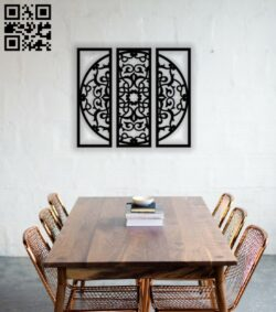 Mandala wall decor E0013999 file cdr and dxf free vector download for laser cut plasma