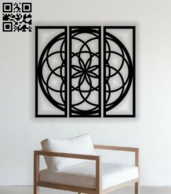 Mandala wall decor E0014000 file cdr and dxf free vector download for laser cut plasma