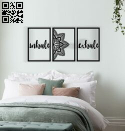 Mandala wall decor E0014002 file cdr and dxf free vector download for laser cut plasma