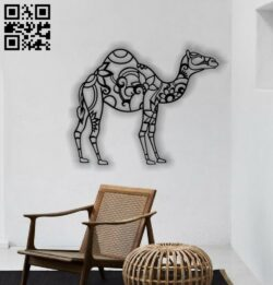 Manlada camel wall decor E0013887 file cdr and dxf free vector download for laser cut plasma