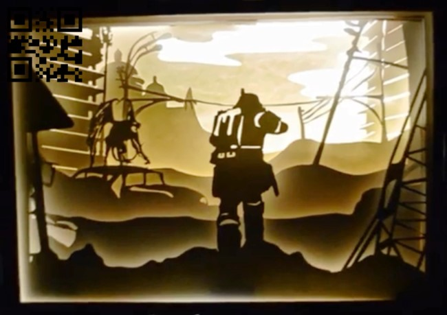 Metro exodus game light box E0013804 file cdr and dxf free vector download for laser cut