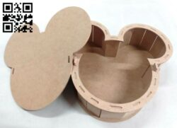 Mickey candy box E0013971 file cdr and dxf free vector download for laser cut