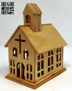 Mini church E0013827 file cdr and dxf free vector download for laser cut