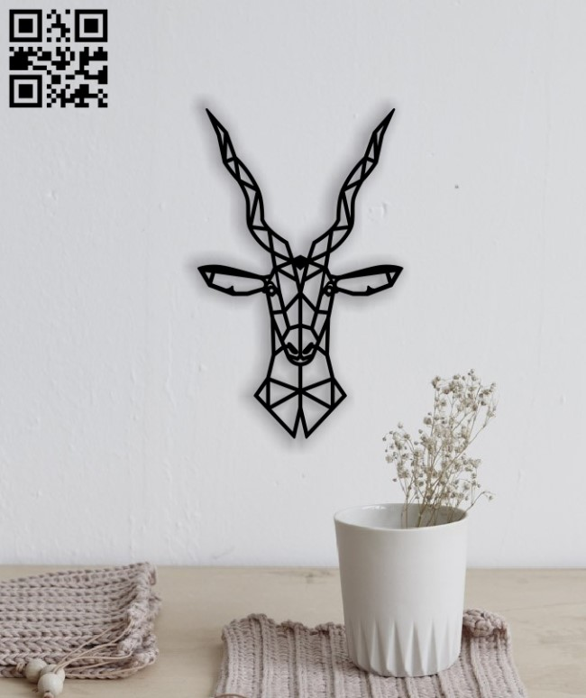 Moose head E0014050 file cdr and dxf free vector download for laser cut plasma