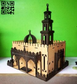 Mosque E0013922 file cdr and dxf free vector download for laser cut