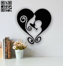 Mother love E0013793 file cdr and dxf free vector download for laser cut plasma