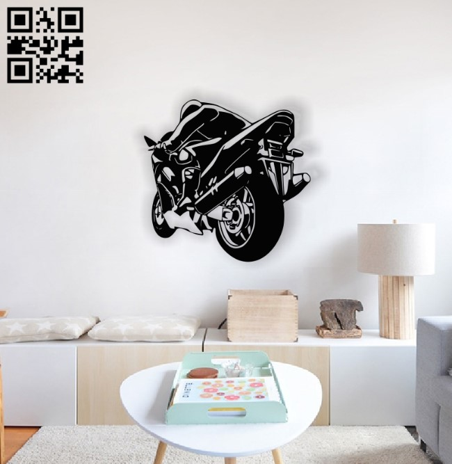 Motorcycle E0013800 file cdr and dxf free vector download for laser cut plasma