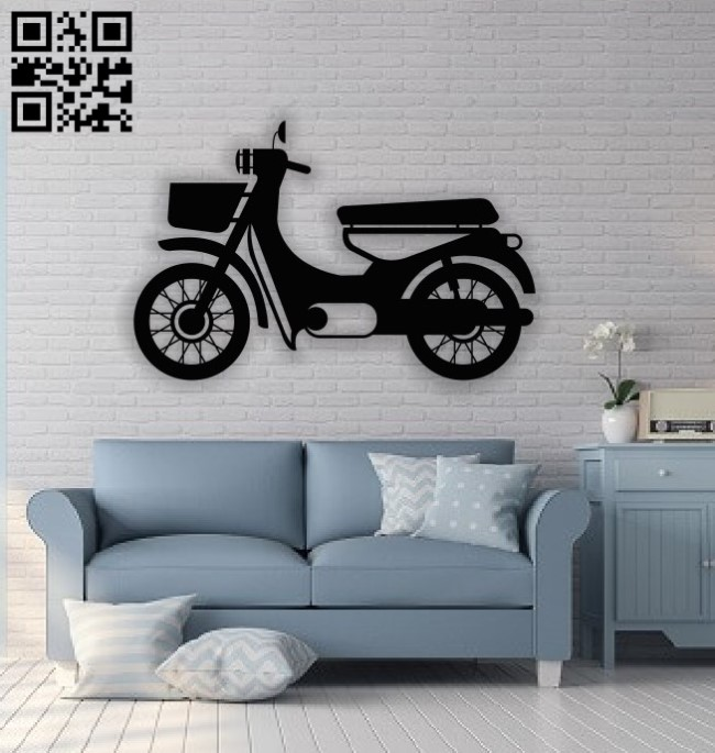 Motorcycle E0013873 file cdr and dxf free vector download for laser cut plasma