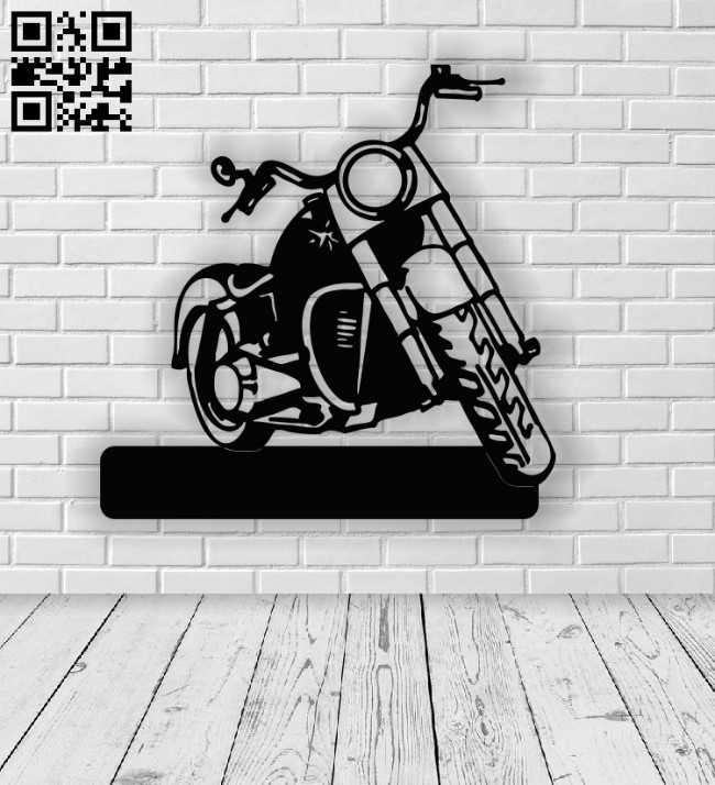 Motorcycle address table E0013741 file cdr and dxf free vector download for cnc cut plasma
