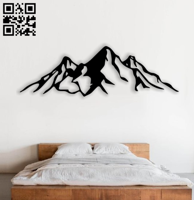 Mountain E0013958 file cdr and dxf free vector download for laser cut plasma