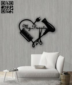 My beauty E0013844 file cdr and dxf free vector download for laser cut plasma