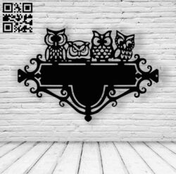 Owls address table E0013842 file cdr and dxf free vector download for laser cut plasma