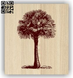Palm E0013953 file cdr and dxf free vector download for laser engraving machine