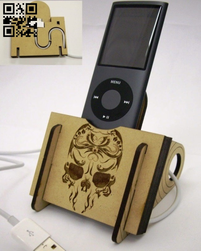 Phone charger stand E0013980 file cdr and dxf free vector download for laser cut