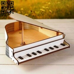 Piano box E0013818 file cdr and dxf free vector download for laser cut
