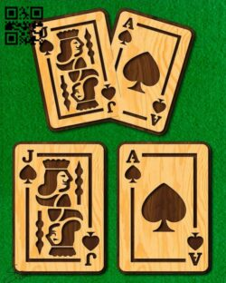 Poker cards E0013828 file cdr and dxf free vector download for laser cut