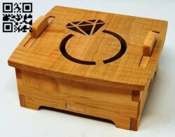 Ring box E0013993 file cdr and dxf free vector download for cnc cut