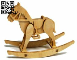 Rocking horse E0013994 file cdr and dxf free vector download for laser cut