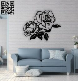 Rose E0013861 file cdr and dxf free vector download for laser cut plasma