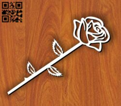 Rose E0013942 file cdr and dxf free vector download for laser cut plasma