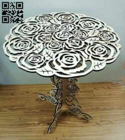 Rose table E0014015 file cdr and dxf free vector download for laser cut