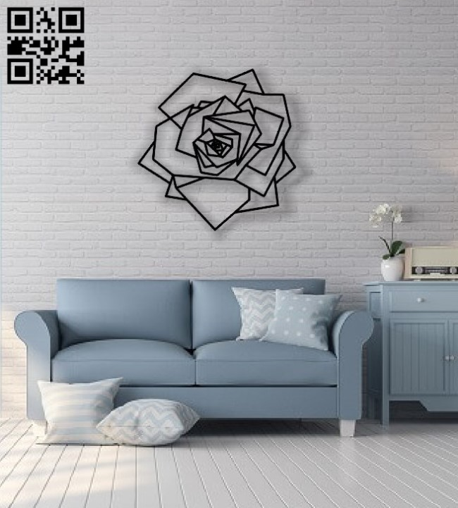 Rose wall decor E0013839 file cdr and dxf free vector download for laser cut plasma