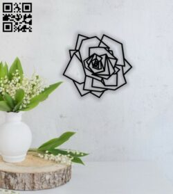 Rose wall decor E0013945 file cdr and dxf free vector download for laser cut plasma