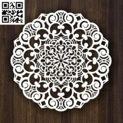 Round ornament E0013984 file cdr and dxf free vector download for laser cut