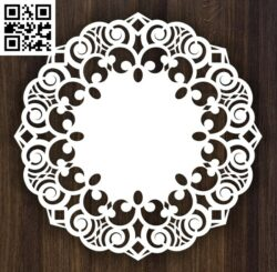 Round ornament E0013985 file cdr and dxf free vector download for laser cut