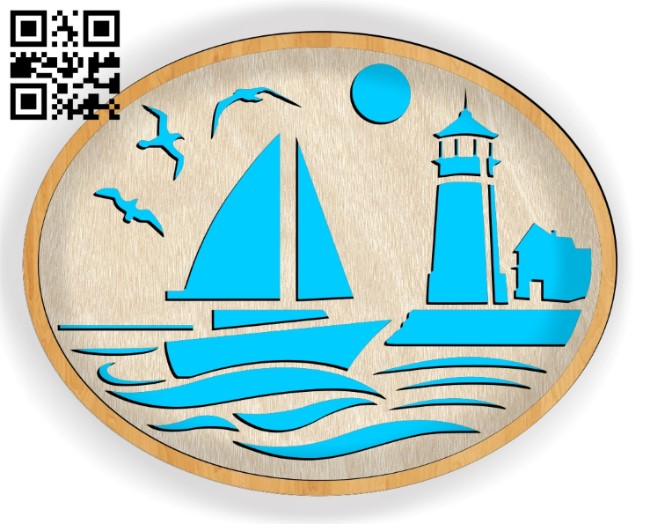 Sailboat E0013991 file cdr and dxf free vector download for laser cut